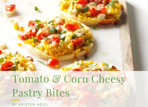 Tomato & Corn Cheesy Pastry Bites