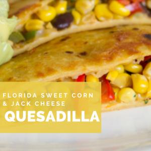 Florida Sweet Corn and Jack Cheese Quesadilla